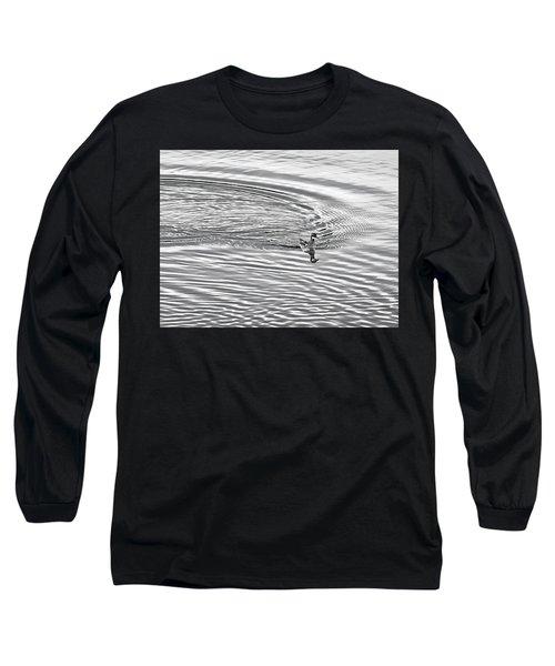 Long Sleeve T-Shirt featuring the photograph Swimming From Circles by Joe Bonita