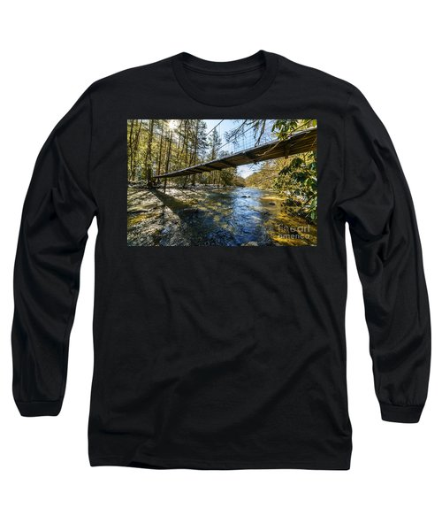 Swinging Bridge Back Fork Of Elk Long Sleeve T-Shirt