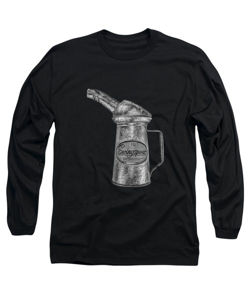 Swingspout Oil Can Bw Long Sleeve T-Shirt