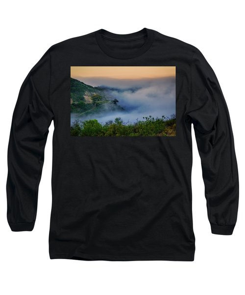 Switchbacks In The Clouds Long Sleeve T-Shirt by Joseph Hollingsworth