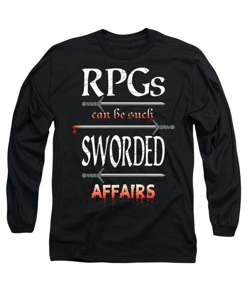 Sworded Affairs Long Sleeve T-Shirt by Jon Munson II