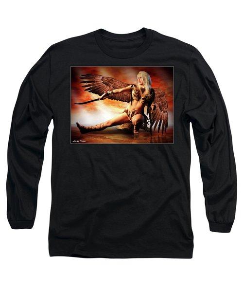 Swords Of The Hawk Woman Long Sleeve T-Shirt