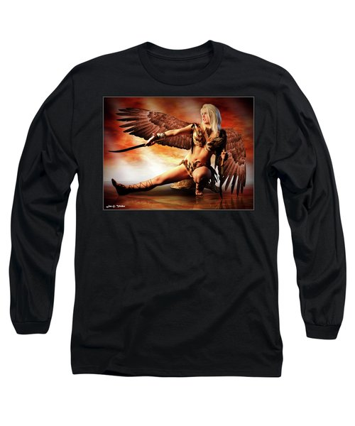 Swords Of The Hawk Woman Long Sleeve T-Shirt