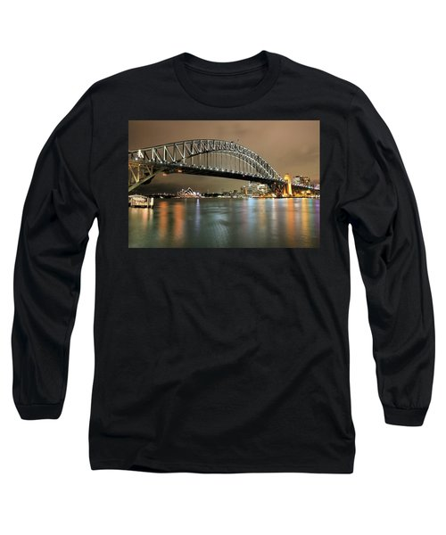Sydney Harbour At Night Long Sleeve T-Shirt