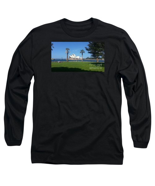 Sydney Opera House  Long Sleeve T-Shirt by Bev Conover