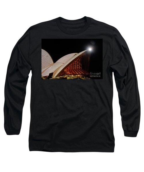 Long Sleeve T-Shirt featuring the photograph Sydney Opera House Close View By Kaye Menner by Kaye Menner