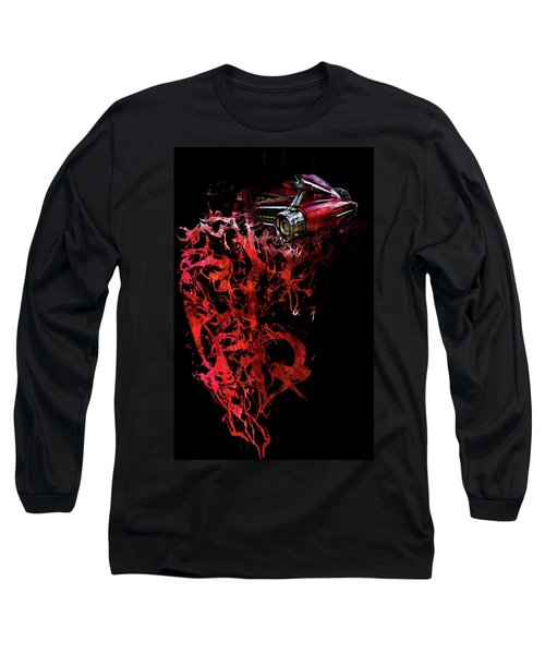 T Shirt Deconstruct Red Cadillac Long Sleeve T-Shirt