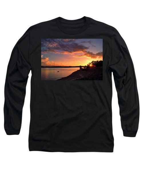 Long Sleeve T-Shirt featuring the photograph Table Rock Sunset by Cricket Hackmann