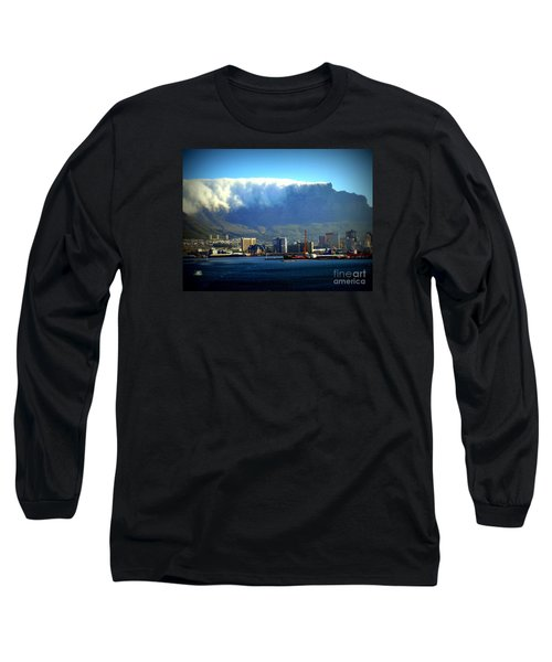 Table Rock With Cloud Long Sleeve T-Shirt by John Potts