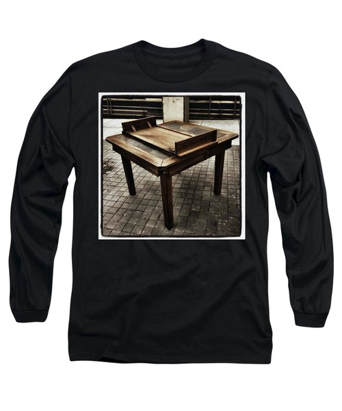 Long Sleeve T-Shirt featuring the photograph Table That Thought. This Beautiful by Mr Photojimsf
