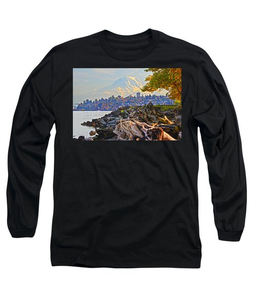 Long Sleeve T-Shirt featuring the photograph Tacoma In The Fall by Jack Moskovita