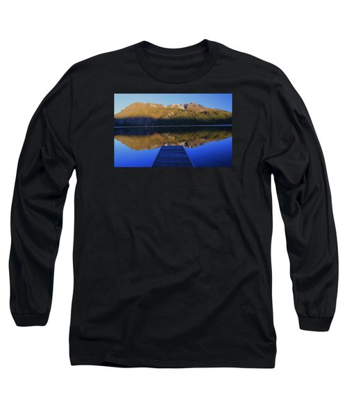 Long Sleeve T-Shirt featuring the photograph Take A Long Walk Off A Short Pier  by Sean Sarsfield