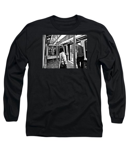 Take The A Train Long Sleeve T-Shirt by Artists With Autism Inc