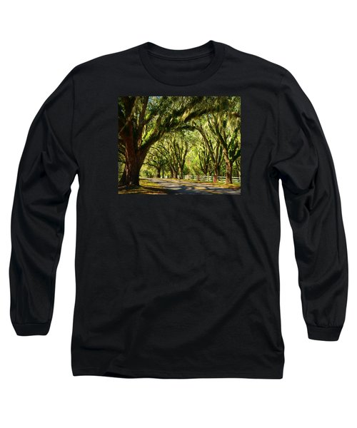 Tallahassee Canopy Road Long Sleeve T-Shirt by Carla Parris