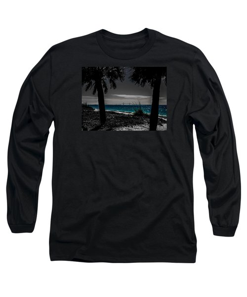 Long Sleeve T-Shirt featuring the photograph Tampa Bay Blue by Randy Sylvia