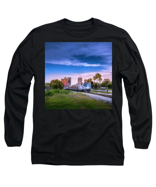 Long Sleeve T-Shirt featuring the photograph Tampa Departure by Marvin Spates