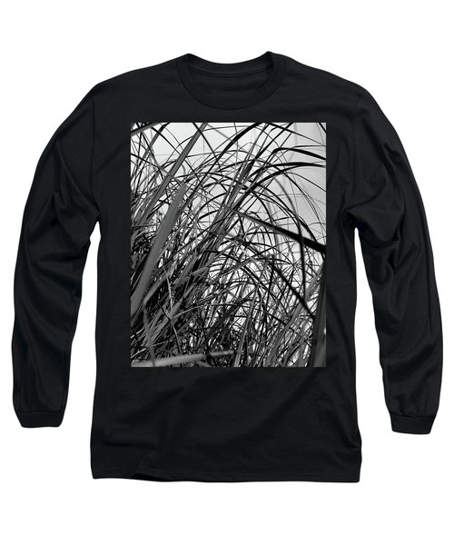 Long Sleeve T-Shirt featuring the photograph Tangled Grass by Susan Capuano