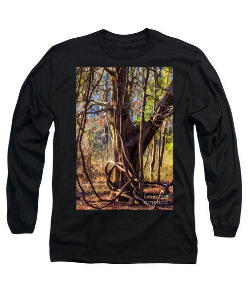 Tangled Vines On Tree Long Sleeve T-Shirt