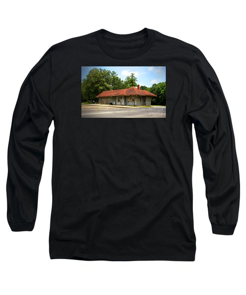 Tate, Ga, Rr Depot Long Sleeve T-Shirt by Marilyn Carlyle Greiner