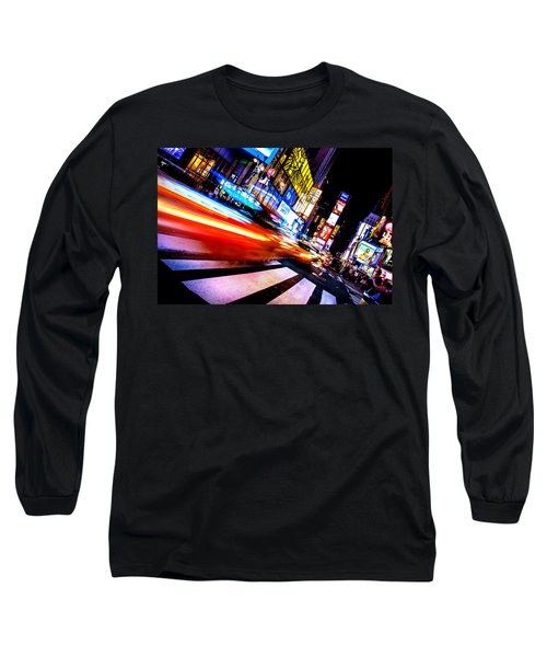Taxis In Times Square Long Sleeve T-Shirt
