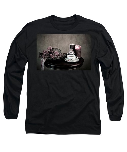 Tea Party Time Long Sleeve T-Shirt by Sherry Hallemeier