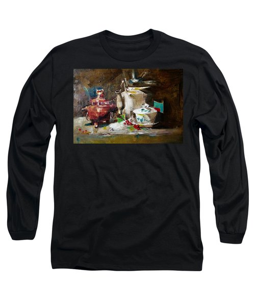 Tea Time Long Sleeve T-Shirt by Khalid Saeed
