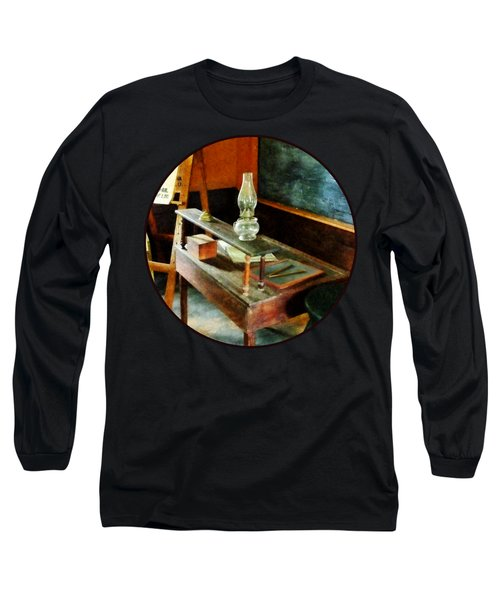 Teacher - Teacher's Desk With Hurricane Lamp Long Sleeve T-Shirt