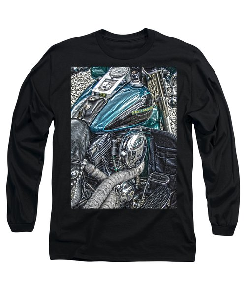 Teal Wonder Long Sleeve T-Shirt by Diane E Berry