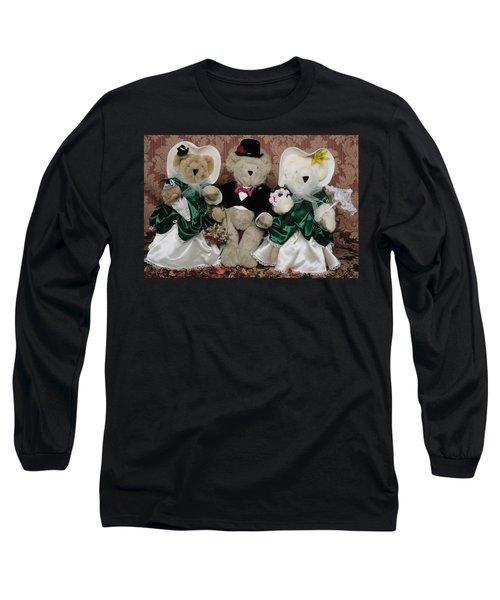 Teddy Bear Wedding Long Sleeve T-Shirt