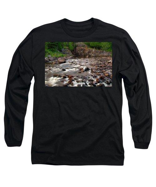 Temperance River Long Sleeve T-Shirt by Steve Stuller