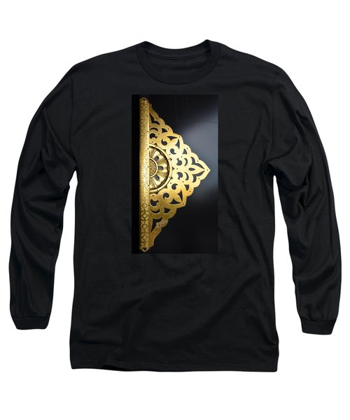 Long Sleeve T-Shirt featuring the photograph Temple Detail by Corinne Rhode
