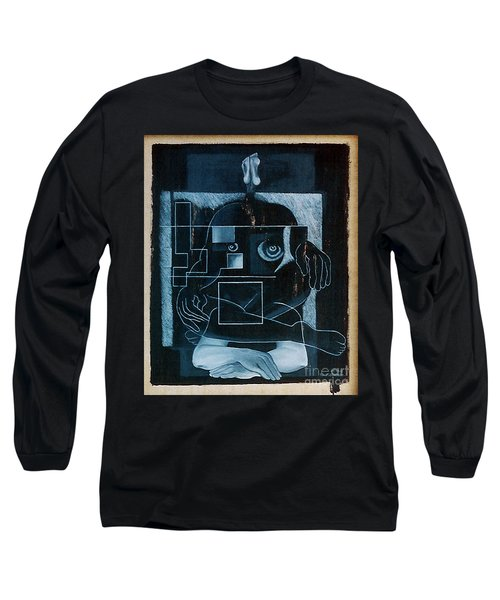 Long Sleeve T-Shirt featuring the painting Tense Leisure by Fei A