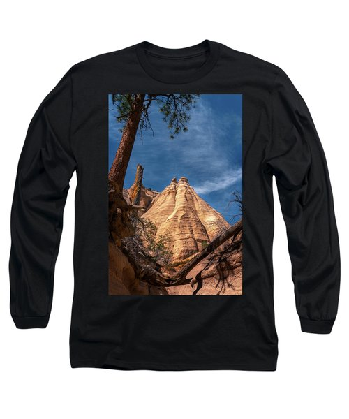 Tent Rock And Ponderosa Pine Long Sleeve T-Shirt