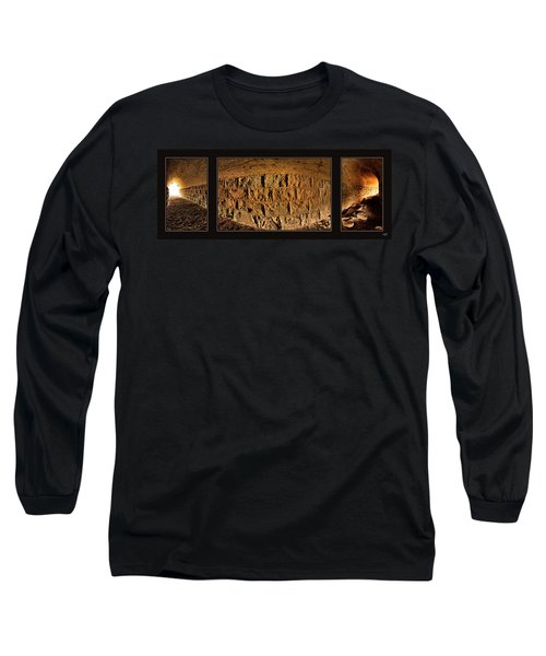 Terry Tunnel Triptych Long Sleeve T-Shirt by Leland D Howard