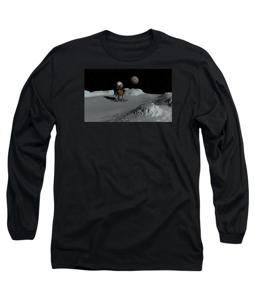 Long Sleeve T-Shirt featuring the digital art Testing The Waters by David Robinson