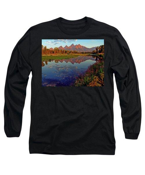 Teton Wildflowers Long Sleeve T-Shirt by Scott Mahon