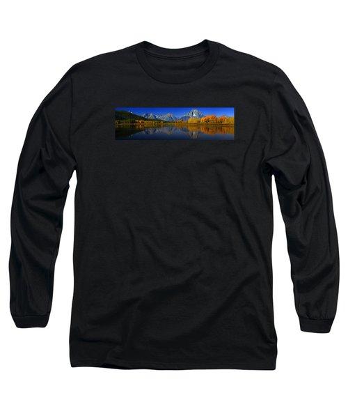 Tetons From Oxbow Bend Long Sleeve T-Shirt by Raymond Salani III