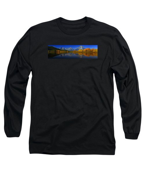 Tetons From Oxbow Bend Long Sleeve T-Shirt