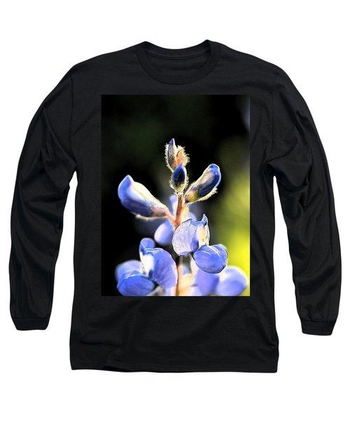 Texas Blue Bonnet Impressions 1 Long Sleeve T-Shirt by Carolina Liechtenstein