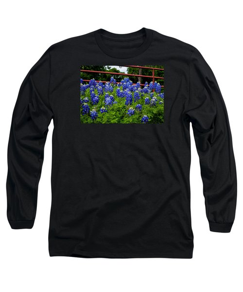 Texas Bluebonnets In Ennis Long Sleeve T-Shirt