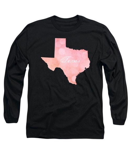 Texas Pink And Coral Bokeh Long Sleeve T-Shirt