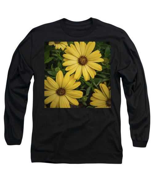 Textured Floral Long Sleeve T-Shirt