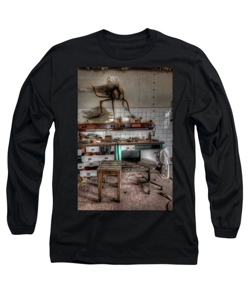 Th Mad Scientist  Long Sleeve T-Shirt by Nathan Wright