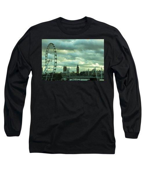Thames View 1 Long Sleeve T-Shirt by Steven Richman