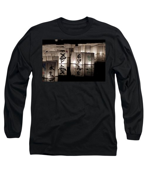 Thank You Long Sleeve T-Shirt by Greg Fortier