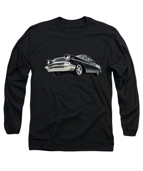 The 57 Chevy Long Sleeve T-Shirt by Douglas Pittman