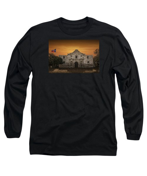The Alamo Mission In San Antonio Long Sleeve T-Shirt by Randall Nyhof
