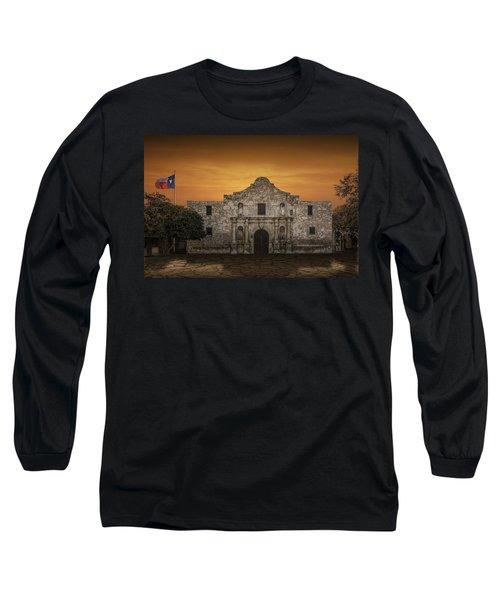 The Alamo Mission In San Antonio Long Sleeve T-Shirt