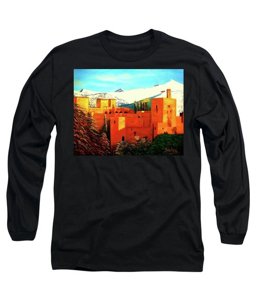 The Alhambra Of Granada Long Sleeve T-Shirt by Manuel Sanchez