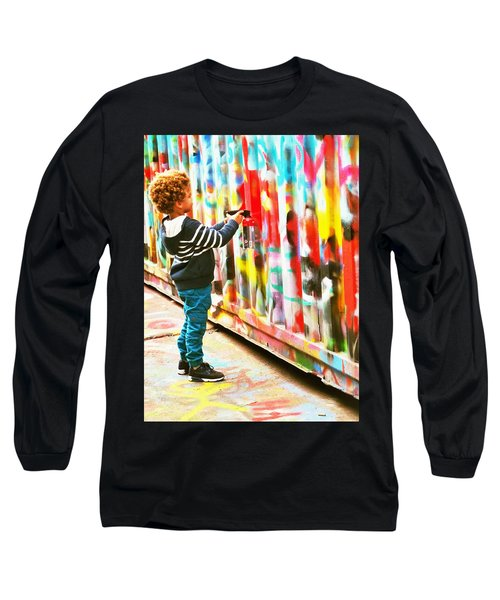 The Apprentice Graffiti Artist In Paris Long Sleeve T-Shirt